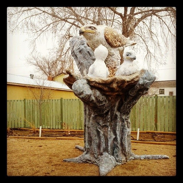 FEHA nest sculpture in Leader, SK.  Photo: Janet Ng
