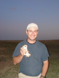 Corey_Scobie_with_Burrowing_Owl_Photographer_Kent_Russell