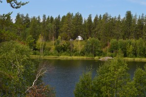View of one of our campsites from across a small lake. Photo by Julia Shonfield.