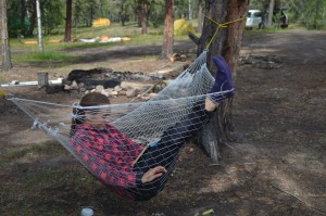An afternoon spent relaxing in a hammock at one of our campsites. Photo by Julia Shonfield.