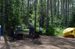 Cooking dinner in the great outdoors. Photo by Julia Shonfield.